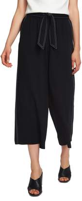 1 STATE 1.STATE Contrast Stitch Wide Leg Crop Pants
