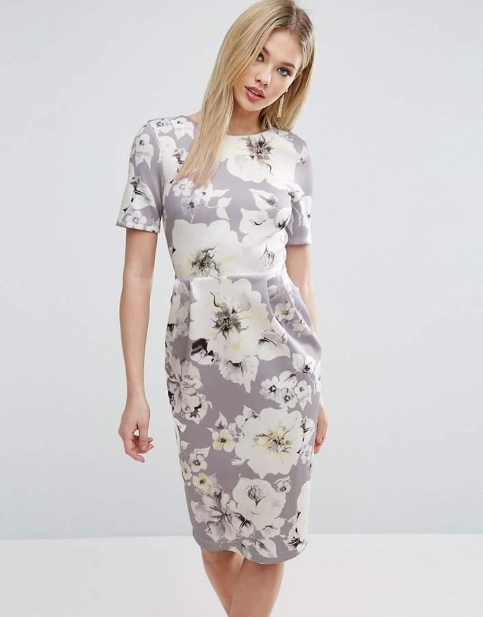 AsosASOS Occasion Floral Print Pencil Dress