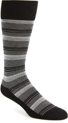 Nordstrom Blocked Fine Stripe Socks