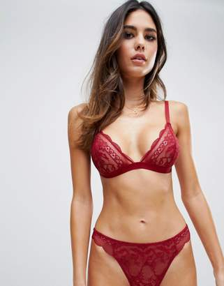 Roxy Asos Design ASOS DESIGN lace triangle bra