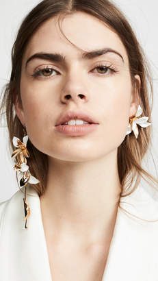 Zimmermann Orchid Statement Drop Earrings