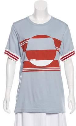 Warm Graphic Print Knit T-Shirt