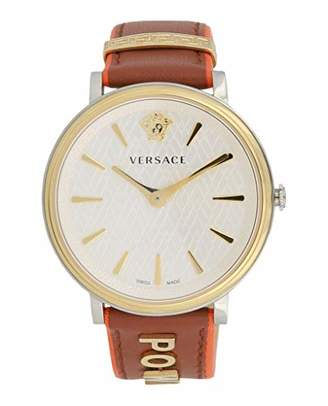 Versace Women's 'The Manifesto Edition' Quartz Stainless Steel and Leather Casual Watch