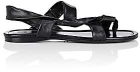 The Row Women's Giada Leather Slingback Sandals-Black