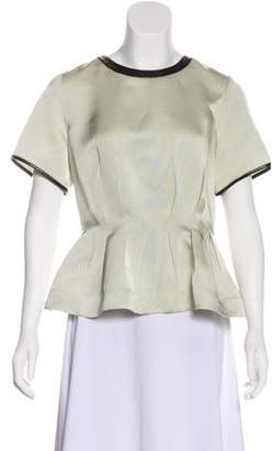 3.1 Phillip Lim Short-Sleeve Accented Top