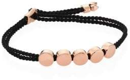 Monica Vinader Linear Bead Friendship Bracelet/Black