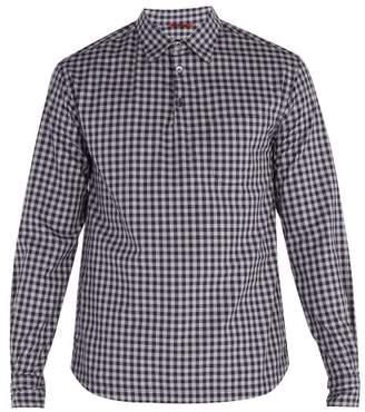 Barena Venezia - Checked Cotton Shirt - Mens - Blue Multi
