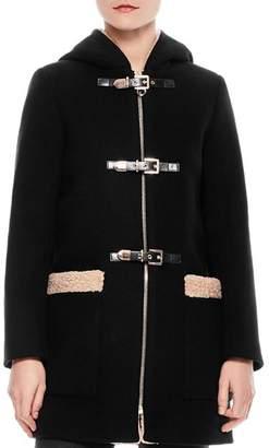 Sandro Figuier Hooded Coat