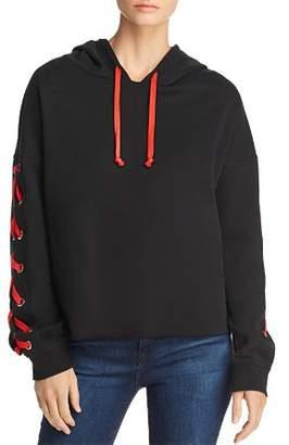 Generation Love Lindsay Lace-Up Sleeve Hooded Sweatshirt