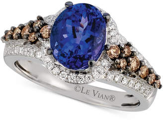 LeVian Le Vian Tanzanite (1-3/4 ct. t.w.) and Diamond (5/8 ct. t.w.) Ring in 14k White Gold