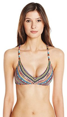 Lucky Brand Women's Arabian Night X Back Bikini Top with Tassels and Removable Cups $37.99 thestylecure.com