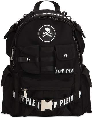 Philipp Plein Tech Canvas Backpack
