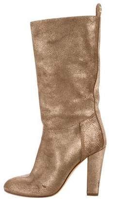 Chanel Metallic Knee-High Boots