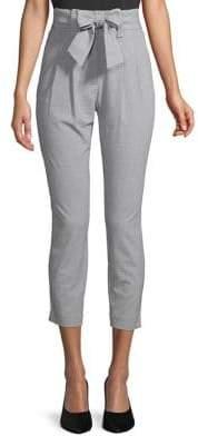 Calvin Klein Checkered Bow Cropped Pants