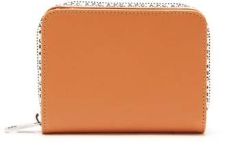 A.P.C. Emmanuelle Logo Trim Leather Wallet - Womens - Camel