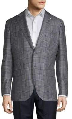 Lubiam Glen Plaid Wool Sportcoat