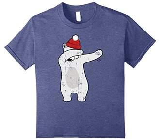 Dabbing Bear Christmas Dab Distressed Vintage T Shirt