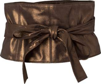 Brunello Cucinelli Metallic Corset Belt