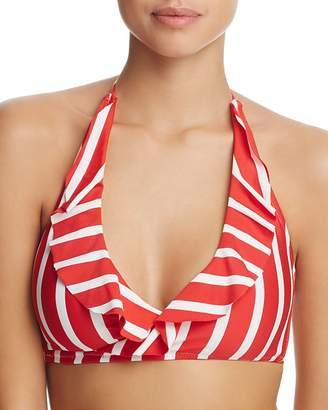 Milly Ruffled Wrap Bikini Top