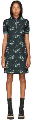 Kenzo Navy Floral Zip Polo Dress