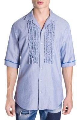DSQUARED2 Ruffle-Bib Shirt