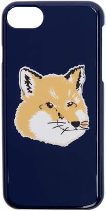MAISON KITSUNÉ Navy Fox Head iPhone 8 Case