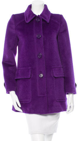 Miu Miu Miu Miu Lama & Wool-Blend Short Coat
