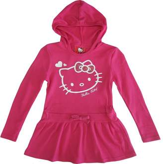SANRIO Little Girls Hello Kitty Heart Long Sleeve Hooded Dress