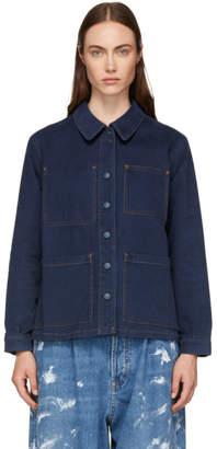 Acne Studios Blue Bla Konst Denim Four-Pocket Jacket