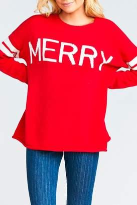 Show Me Your Mumu Varsity Merry Sweater