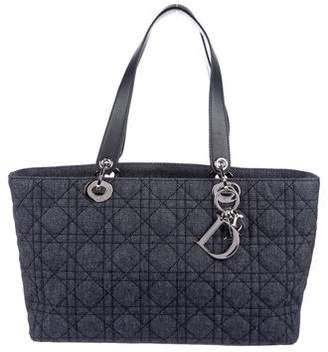 Christian Dior Cannage Denim Lady Tote