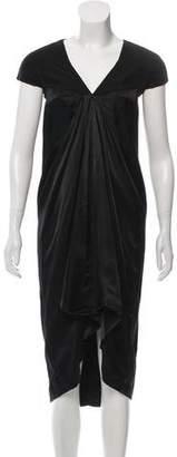 Rick Owens Short Sleeve Midi Dress
