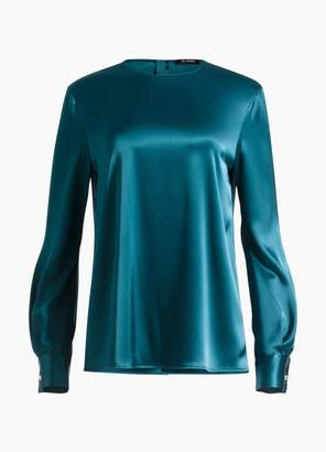 St. John Liquid Satin Blouse