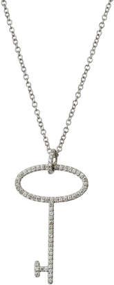 Giantti By Stefan Hafner 18k White Gold Diamond Key Pendant Necklace (0.25 ct)