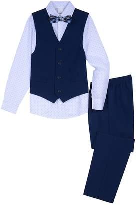 688af5f881c6 Van Heusen Boys Heather Poplin Vest, Shirt, Bow Tie & Pants Suit Set