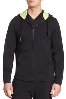 Saks Fifth Avenue COLLECTION Hooded Zip Front Sweatshirt