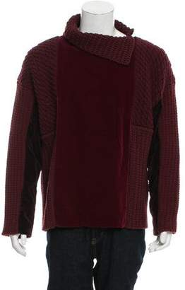 Dolce & Gabbana Velvet-Trimmed Turtleneck Sweater w/ Tags