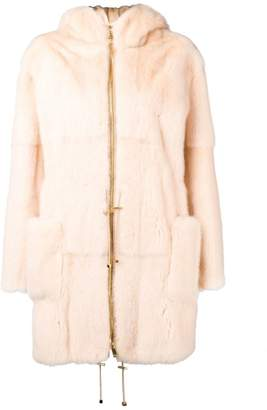 Pallas Liska hooded fur coat