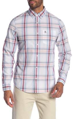 Original Penguin Plaid Long Sleeve Slim Fit Shirt