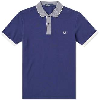 Fred Perry Authentic Stripe Collar Pique Polo