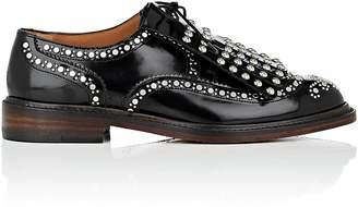 Clergerie Women's Roeloc Studded Spazzolato Leather Oxfords