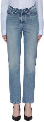 Alexander Wang Alexanderwang 'Cult' flip waist straight leg jeans