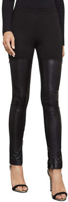 BCBGMAXAZRIA Conan Faux-Leather Moto Legging