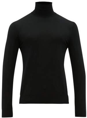 Dolce & Gabbana Roll Neck Wool Sweater - Mens - Black