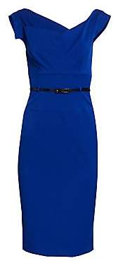 Black Halo Women's Belted Sheath Dress - Size 0