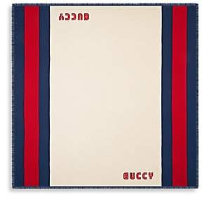 Gucci Men's Guccy Web Silk Blend Scarf