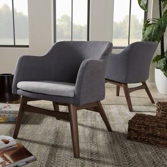 Baxton Studio Mid-Century Modern Arm Chair