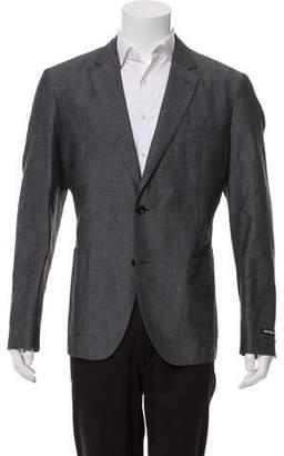 Michael Kors Linen-Blend Woven Blazer