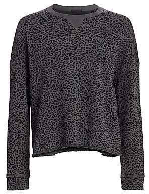 ATM Anthony Thomas Melillo Women's French Terry Animal Print Sweatshirt