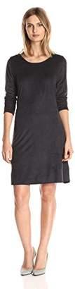 N. Star Vixen Women's Plus-Size Long Sleeve Fit Flare Scoop Neck V Back Ity Dress